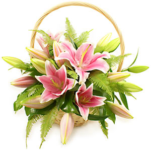 001 Scented Basket of Lillies